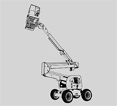 engine-powered articulated boom lift